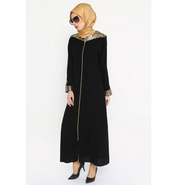 Etem Temur Dress Turkish Ferace Abaya ET-2126 - Modefa