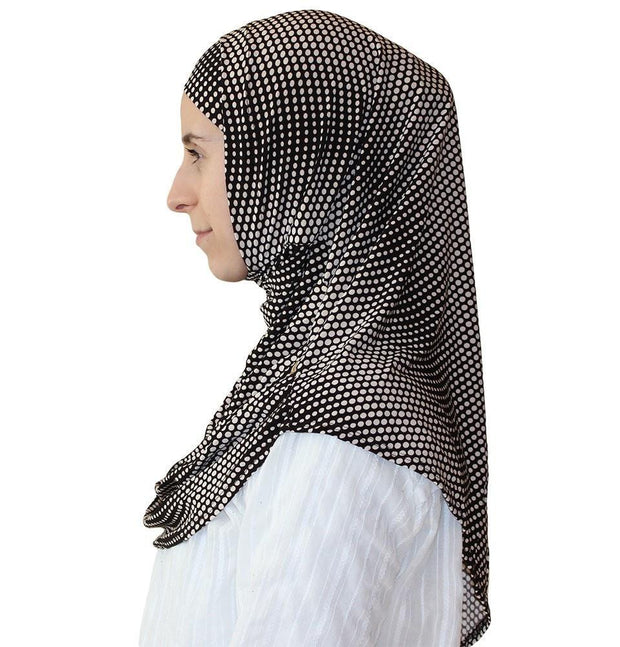 Firdevs Amirah hijab Brown / White Firdevs Practical Hijab Scarf & Bonnet Small Polka Dot Brown