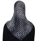 Firdevs Amirah hijab Gray Firdevs Practical Hijab Scarf & Bonnet Lattice Grey