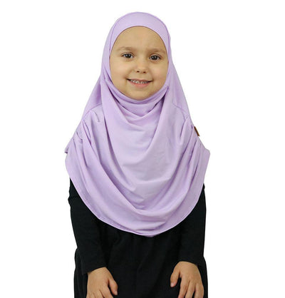 Firdevs Girl's Practical Hijab Scarf & Bonnet Lilac