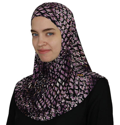 Firdevs Amirah hijab Purple Firdevs Practical Amira Hijab Lattice - Purple