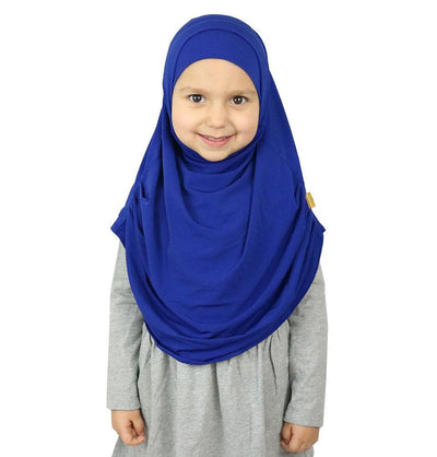 Firdevs Amirah hijab Royal Blue Firdevs Girl's Practical Hijab Scarf & Bonnet Royal Blue