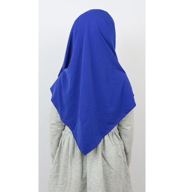 Firdevs Girl's Practical Hijab Scarf & Bonnet Royal Blue