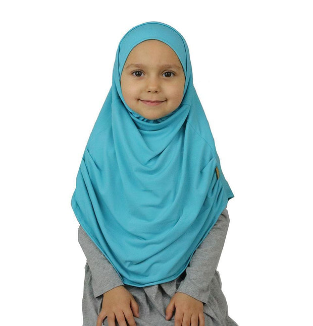 Firdevs Amirah hijab Turquoise Firdevs Girl's Practical Hijab Scarf & Bonnet Turquoise