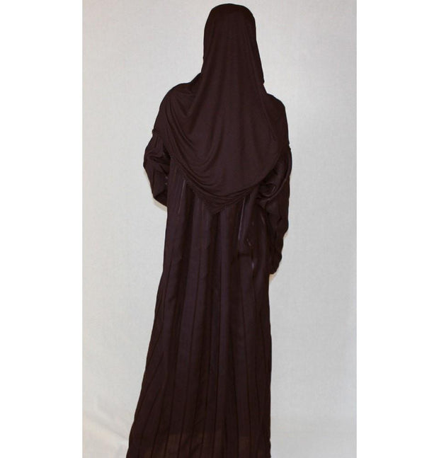 Firdevs Dress Amade Women's One-Piece Prayer Dress Brown Abaya Gift Set