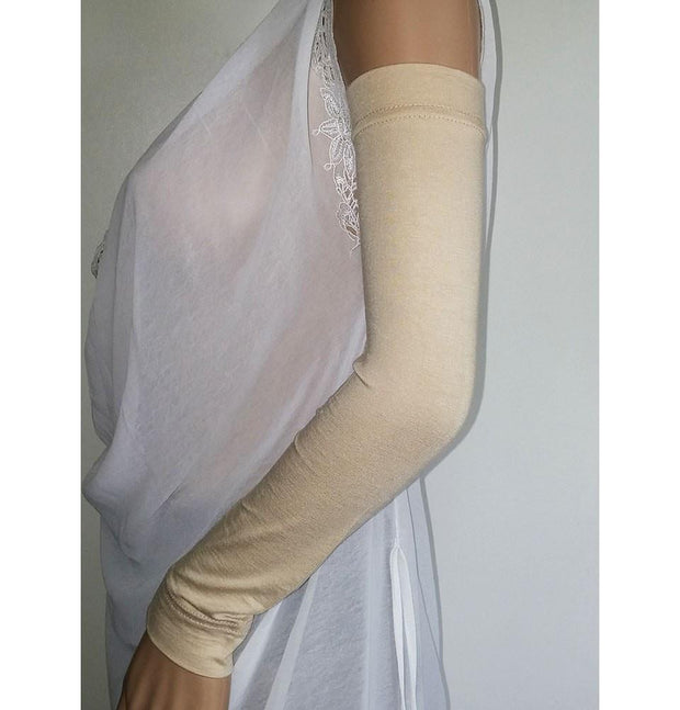 Firdevs Sleeves Firdevs Long Jersey Arm Sleeves Beige - Modefa