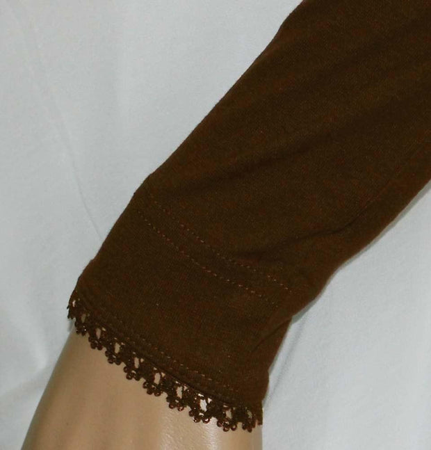 Firdevs Sleeves Brown Firdevs Long Jersey Lace Arm Sleeves Brown