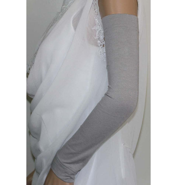 Firdevs Sleeves Firdevs Long Jersey Arm Sleeves Grey - Modefa