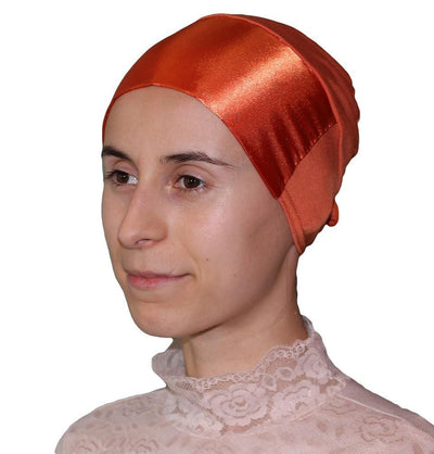 Firdevs Underscarf Orange Firdevs Satin Hijab Bonnet Underscarf Orange