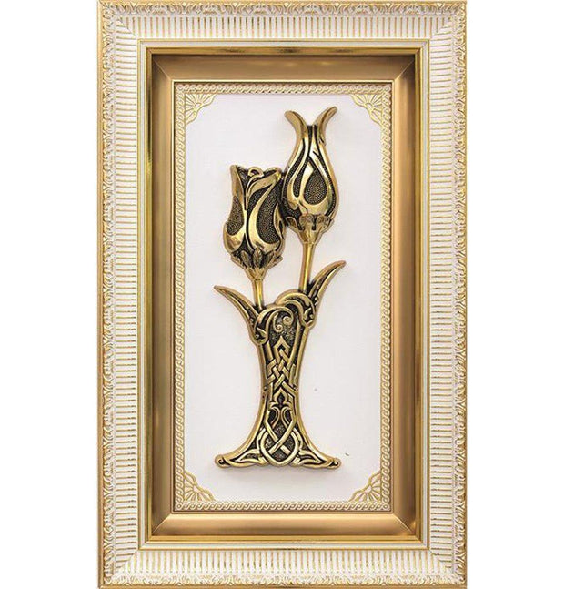 Gunes Islamic Decor Framed Art Lalegul 'Rose & Tulip' 1390