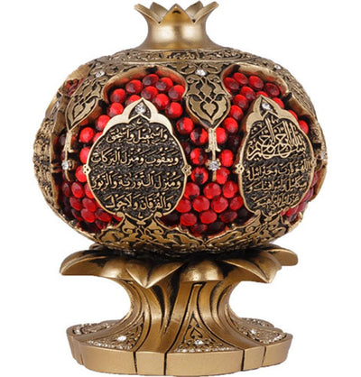 Islamic Pomegranate Decor Piece with Abundance Dua Gold 1917