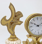 Islamic Table Decor Clock with Allah Muhammad 2302