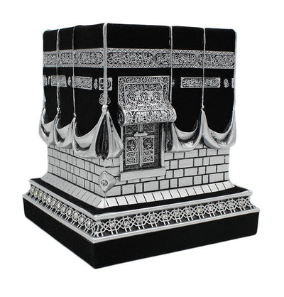 Gunes Islamic Decor Islamic Table Decor Kaba Replica Silver & Black 1961