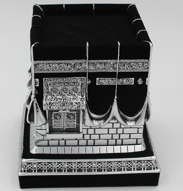 Gunes Islamic Decor Islamic Table Decor Kaba Replica Silver & Black 1961 - Modefa