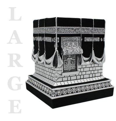Islamic Table Decor Kaba Replica Silver & Black LARGE 2147