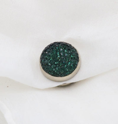 Bejeweled Magnetic Hijab 'Pin' - Emerald