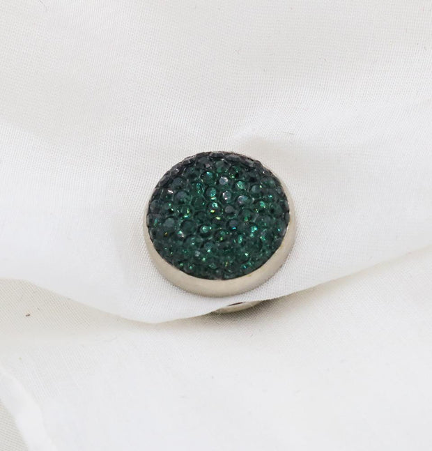 Handmade Magnetic pins Green Bejeweled Magnetic Hijab 'Pin' - Emerald