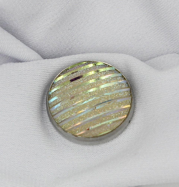Handmade Magnetic pins Ivory Elegant Shimmer Magnetic Hijab 'Pin' Iridescent Ivory