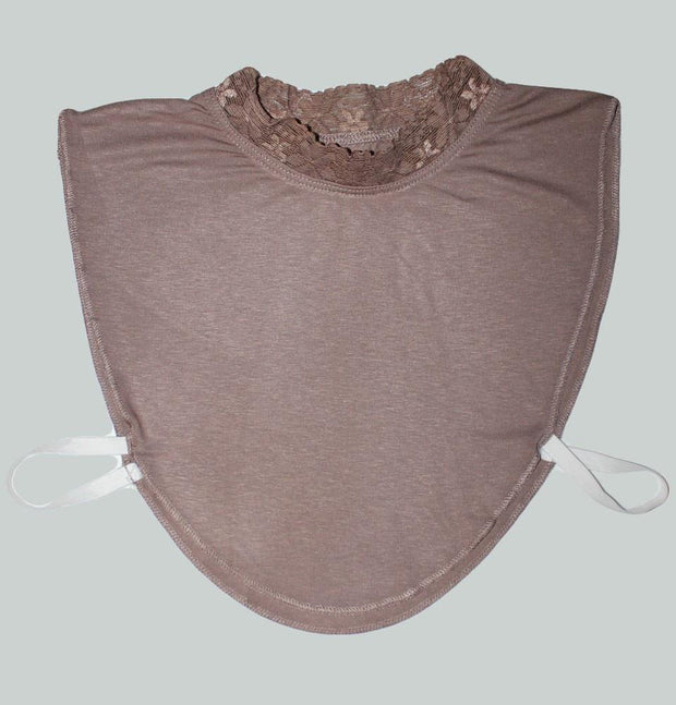 Hurrem Neck cover Hurrem Taupe Brown Neck Cover with Lace - Boyunluk - Modefa