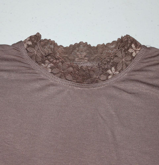 Hurrem Neck cover Taupe Brown Hurrem Taupe Brown Neck Cover with Lace - Boyunluk