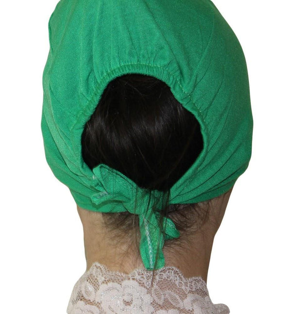 Ipekce Underscarf Bright Green Cotton Hijab Bonnet Underscarf - Bright Green