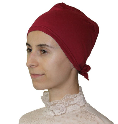 Ipekce Underscarf Red Cotton Hijab Bonnet Underscarf - Apple Red