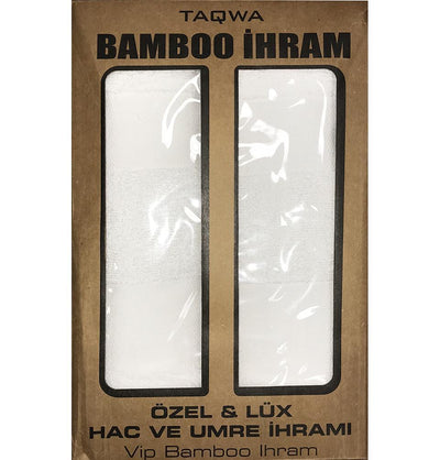Istanbuldanli Ihram Men's Bamboo Cotton Ihram Set of 2 Towels for Hajj and Umrah