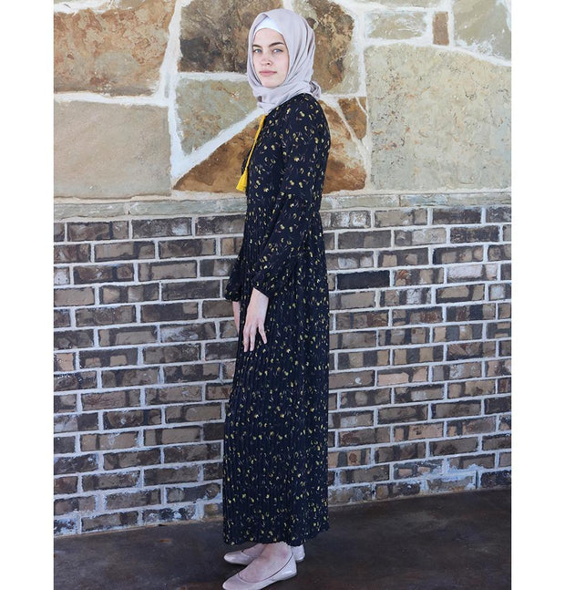 Loreen Dress Loreen Modest Floral Dress 2612 Black