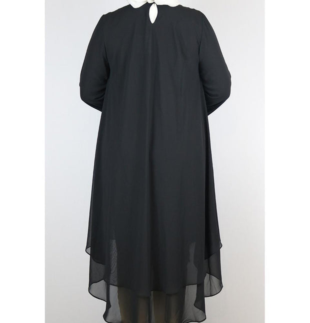 Loreen Tunic Loreen Modest Plus Size Tunic 9005 Black