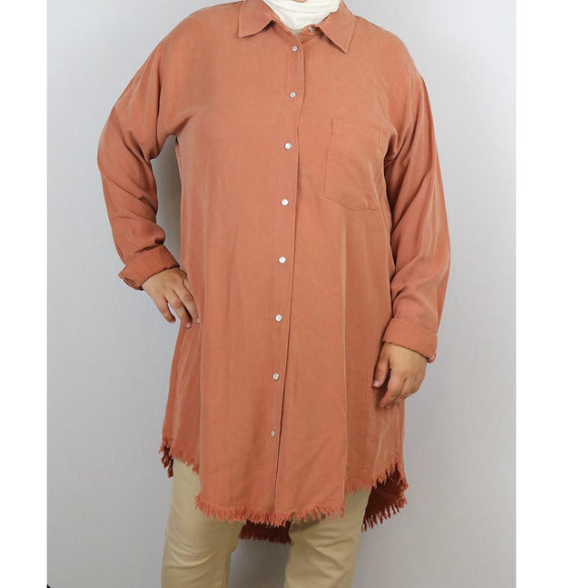 Loreen Tunic Loreen Plus Size Button Up Tunic 9009