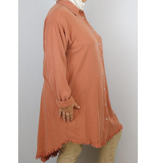 Loreen Plus Size Button Up Tunic 9009