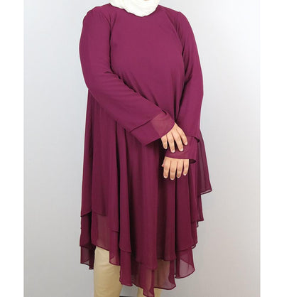 Loreen Modest Plus Size Tunic 9005 Magenta
