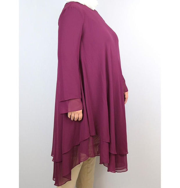 Loreen Tunic Loreen Modest Plus Size Tunic 9005 Magenta