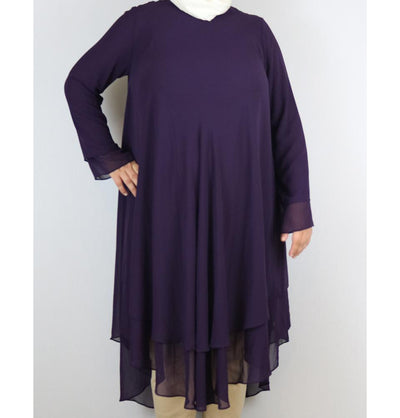 Loreen Modest Plus Size Tunic 9005 Purple