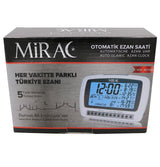 Mirac Islamic Decor Automatic Azan Small Desk Clock #0019