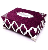 Modefa Book Burgundy Holy Quran in Keepsake Velvet Gift Case - Burgundy