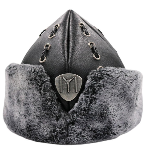 Modefa Bork Child Ottoman Bork Ertugrul Fur Leather Hat Kayi Tribe IYI #2017i