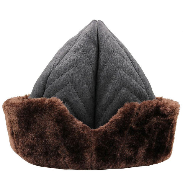 Modefa Bork Ottoman Bork Ertugrul Fur Hat Black/Brown #2023