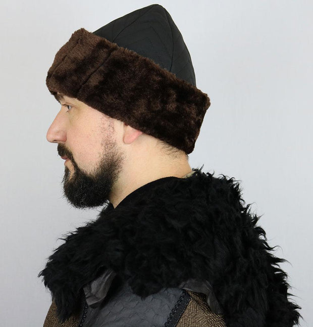 Ottoman Bork Ertugrul Fur Hat Black/Brown #2023