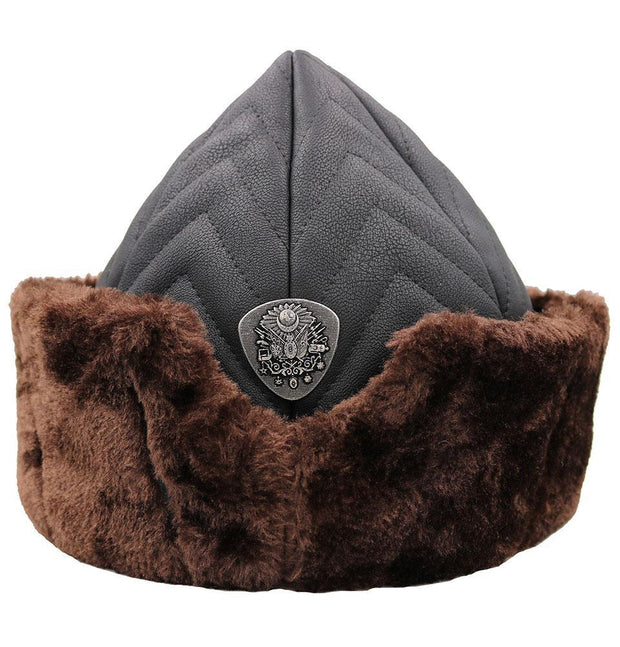 Modefa Bork Ottoman Bork Ertugrul Fur Hat Coat of Arms #2022