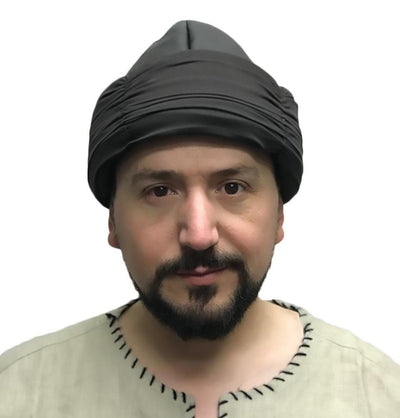 Ottoman Bork Ertugrul Leather Hat with Band 2018A