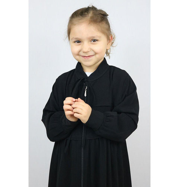 Modefa Dress Islamic Turkish Child Ferace Girl's Abaya - Black