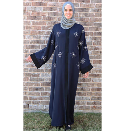 Islamic Abaya Ferace Winter Star Blue