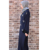 Modefa Dress Islamic Abaya Ferace Winter Star Blue