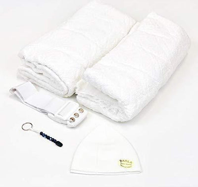 Modefa Ihram COMBO: Men's Cotton Ihram Set + Belt + Kufi