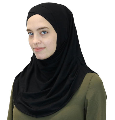 Modefa Instant Hijabs Black Modefa One Piece Instant Practical Hijab – Black