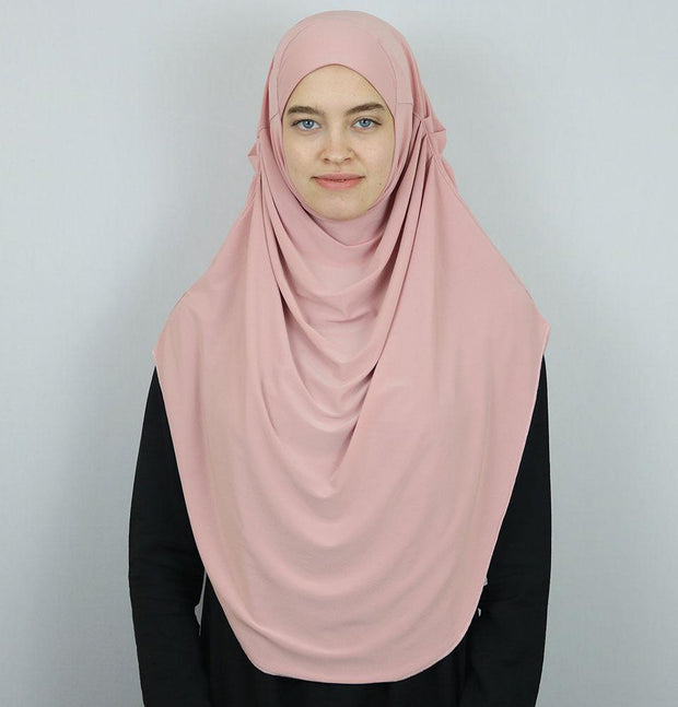 Modefa Instant Hijabs Blush Pink Modefa Long One Piece Instant Practical Hijab – Blush Pink