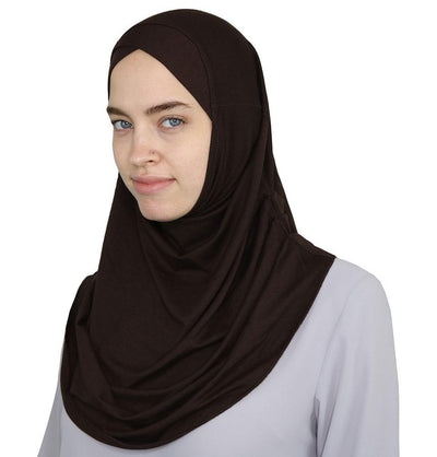 Modefa Instant Hijabs Brown Modefa One Piece Instant Practical Hijab – Brown