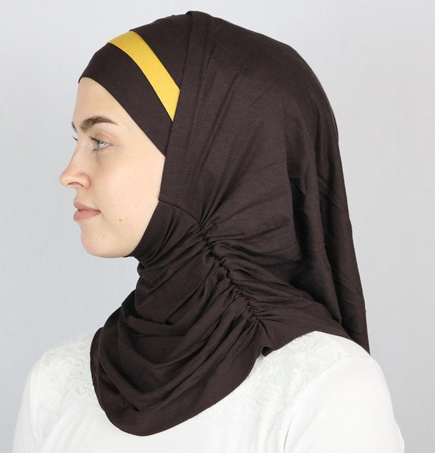 Practical Instant Jersey Hijab B0008 Brown