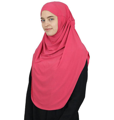 Modefa Instant Hijabs Coral Pink Modefa Long One Piece Instant Practical Hijab – Coral Pink